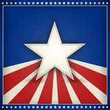 Patriotic USA Background With Stars And Stripes Stock Photos