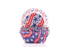 Patriotic USA Cupcake Holders Stock Image