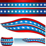 Patriotic USA Flag Banners Royalty Free Stock Image