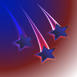 Patriotic usa flag colors background with three stars for 4th july Stock Photography