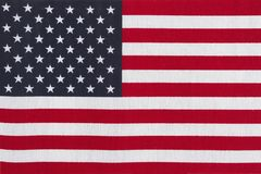 Patriotic USA flag. Patriotic USA current stars and stripes flag Stock Image
