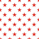 Patriotic USA seamless pattern. American flag symbols and colors. Background for 4th july USA independence day. Red stars on white backdrop royalty free illustration