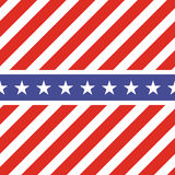 Patriotic USA seamless pattern. American flag symbols and colors. Background for 4th july USA independence day. Stars and diagonal red and white stripes royalty free illustration