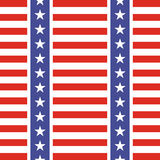 Patriotic USA seamless pattern. American flag symbols and colors. Background for 4th july USA independence day. Stars and gorizontal red and white stripes stock illustration