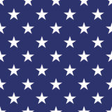 Patriotic USA seamless pattern. American flag symbols and colors. Background for 4th july USA independence day. White stars on blue backdrop royalty free illustration