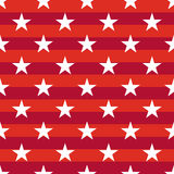 Patriotic USA seamless pattern. American flag symbols and colors. Background for 4th july USA independence day. White stars on striped red backdrop royalty free illustration