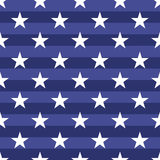 Patriotic USA seamless pattern. American flag symbols and colors. Background for 4th july USA independence day. White stars on striped blue backdrop vector illustration