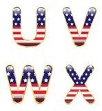 Patriotic UVWX Stock Images
