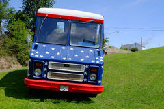 Patriotic Van Royalty Free Stock Photo