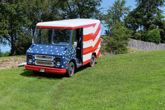 Patriotic Van Royalty Free Stock Photography