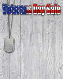 Patriotic Veterans Day sale sign Stock Image