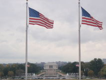 Patriotic View of Lincoln Memorial stock images