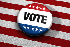 Patriotic vote button Stock Images