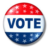 Patriotic vote button badge election politics Stock Photo