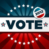 Patriotic Voting Poster. With sticker Vector Illustration