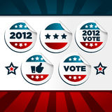 Patriotic Voting Stickers. Set of patriotic voting stickers vector illustration
