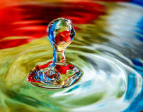 Patriotic water drop. American patriotic water drop with red white & blue coloring Stock Photography