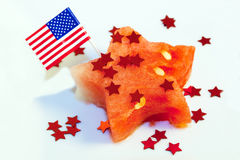 Patriotic watermelon Stock Image