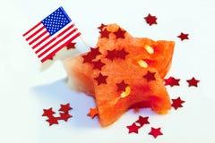 Patriotic watermelon Stock Image