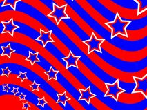 Patriotic Wave Background Stock Photos