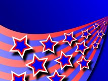 Patriotic Wave Background Stock Image