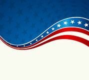 Patriotic wave background. USA flag. Independence Day banner Stock Image