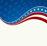 Patriotic wave background Stock Photo