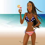 Patriotic Woman 1 Stock Photo