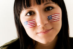 Patriotic woman Stock Image