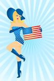 Patriotic woman Royalty Free Stock Photo