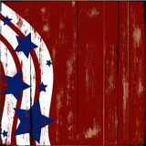 Patriotic Wood. Old wooden sign with patriotic stars and stripes Royalty Free Stock Photos