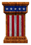 Patriotic Wooden Podium 3D Illustration Royalty Free Stock Photography