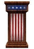 Patriotic Wooden Podium 3D Illustration Stock Image