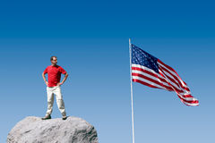 Patriotic Youth Stock Photo