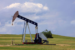 Patriotische Ölplattform Lizenzfreies Stockbild