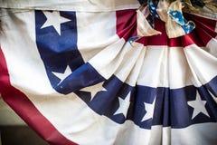 Patriotische amerikanische Flagge Stockfoto