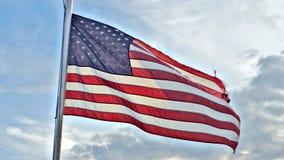 Patriotische amerikanische Flagge Stockbild