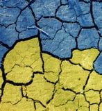 Patriotische Artfarben der ukrainischen Flagge Stockfotografie