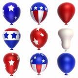 Patriotische Ballone Lizenzfreies Stockfoto