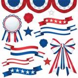Patriotische Embleme Stockfoto