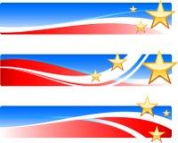 Patriotische Fahnen des Unabhängigkeitstags Lizenzfreies Stockfoto