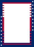 Patriotische Grenze lizenzfreie abbildung