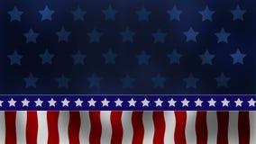 Patriotische Hintergrund-Schleife USA stock video