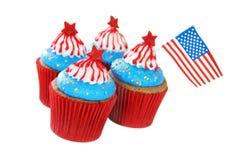 Patriotische kleine Kuchen Lizenzfreies Stockfoto