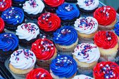 Patriotische kleine Kuchen Lizenzfreie Stockbilder