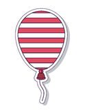 Patriotische lokalisiertes Ikonendesign des Ballons Luft Lizenzfreies Stockfoto