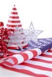 Patriotische Parteidekorationen für USA-Ereignisse Lizenzfreie Stockfotos
