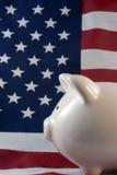 Patriotische Piggy Querneigung Lizenzfreies Stockbild