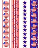 Patriotische Ränder Juli 4. Stockfotos