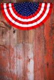 Patriotische Rosette des Unabhängigkeitstags Stockbild